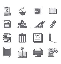 tools learning icon set vector image vector image