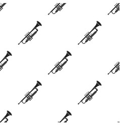 trumpet icon in black style isolated on white vector image vector image