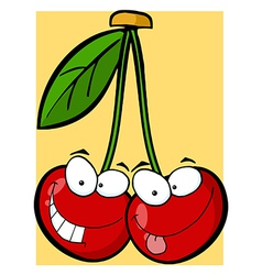 Two Cherry Characters vector image vector image