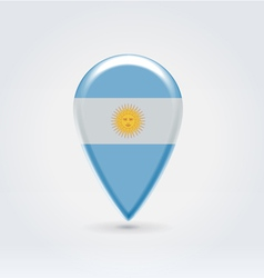 Argentinian icon point for map vector image