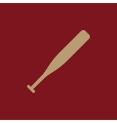 The baseball icon game symbol flat vector