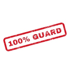100 percent guard text rubber stamp vector