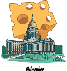 Milwaukee wisconsin poster vector
