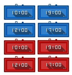 Icons for digital clocks vector