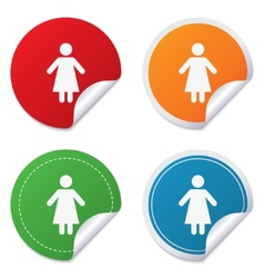 Female sign icon woman human symbol vector
