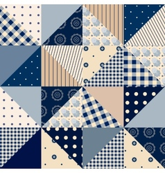 Seamless patchwork of triangles vector