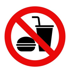 No eating and no drinks allowed vector