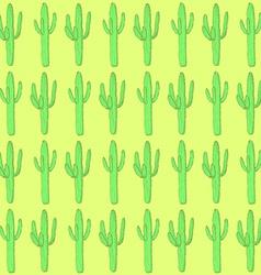 Sketch desert cactus in vintage style vector image