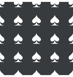 Straight black spades pattern vector