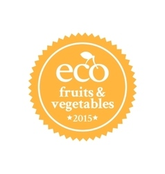 Badge in retro style for ecologically pure food vector