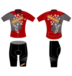 Cycling vest and leaf scene vector