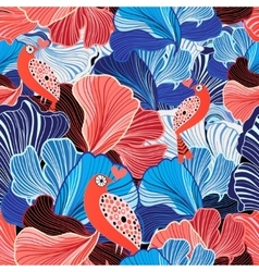 Abstract pattern and bird lovers vector