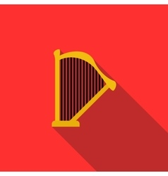 Harp icon in flat style vector