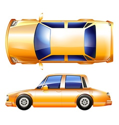 A yellow vehicle vector image