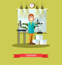 chemist concept in flat style vector image vector image