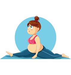 Cute Overweight Girl Doing the Splits Cartoon vector image vector image