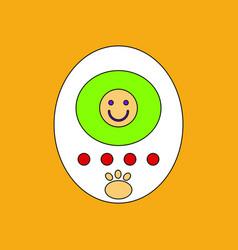Flat icon design collection tamagotchi pets vector