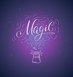 hand-lettering magic vector image