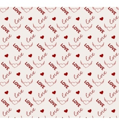 Heart and love seamless pattern in vector image