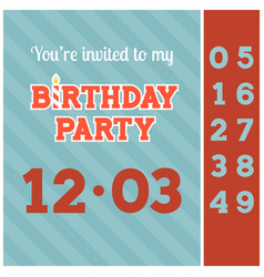invitation birthday party card template vector image