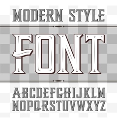 Label font modern style whiskey vector
