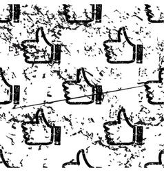 Like pattern grunge monochrome vector