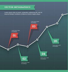 Line chart infographic vector