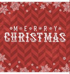 Merry Christmas Vintage Postcard Snowflake border vector image vector image