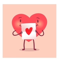 Merry heart for valentine day vector