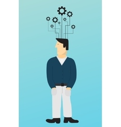 Modern concept man and business background vector