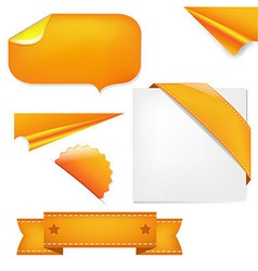 Orange Set vector image vector image