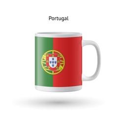 Portugal flag souvenir mug on white background vector