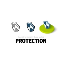 Protection icon in different style vector image vector image