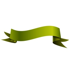 Realistic shiny green-yellow ribbon isolated on vector