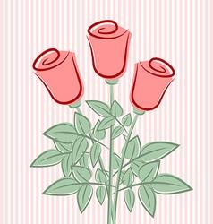 Retro roses vector image vector image