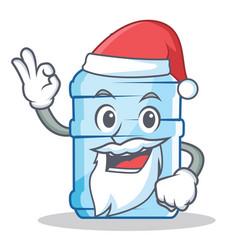 Santa gallon character cartoon style vector
