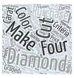 Selecting diamonds word cloud concept vector