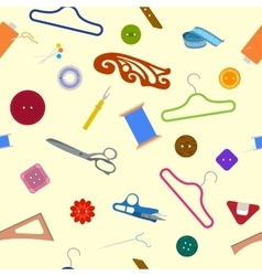 Sewing Items Pattern vector image