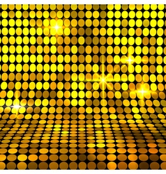 Shiny gold mosaic background vector image