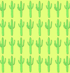 Sketch desert cactus in vintage style vector image