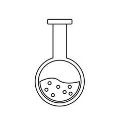 test tube flask laboratory school chemistry vector image vector image
