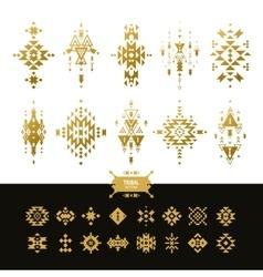 Tribal elements gold colors vector