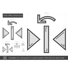 Undo reflect vertical line icon vector