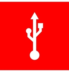 USB sign vector image vector image