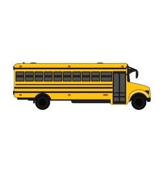 Yellow School bus over white vector image