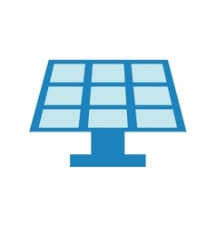 Solar panel energy ecology save icon vector