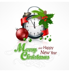 New Year click on white vector image