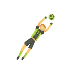 Goalkeeper football player isolated vector
