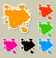 Multicolored blots set vector