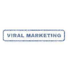 Viral marketing textile stamp vector